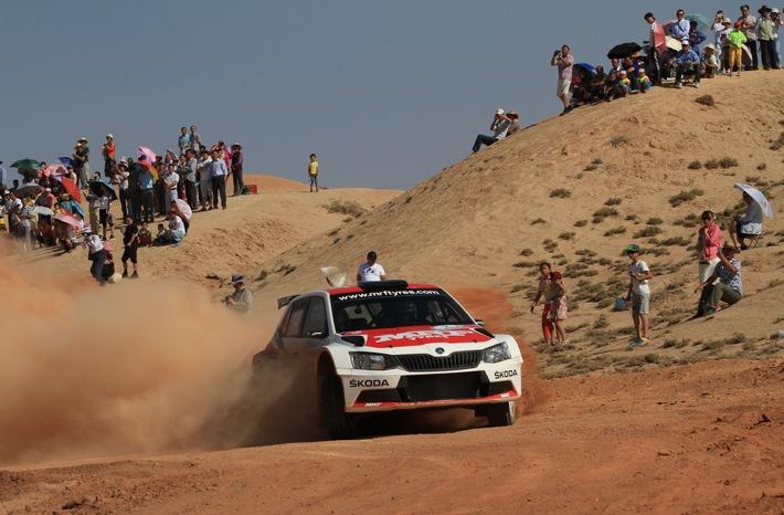APRC: SKODA triumphiert auch bei der ,Wüsten-Rallye' im Kernmarkt China