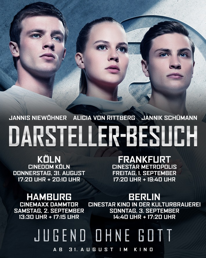 JUGEND OHNE GOTT - Darstellerbesuch in Frankfurt, Hamburg und Berlin