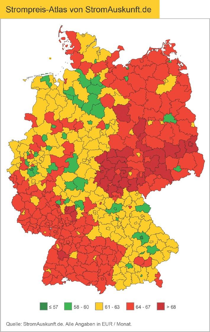 Strompreis-Atlas für Deutschland  - Was Verbraucher wirklich zahlen müssen (mit Bild)