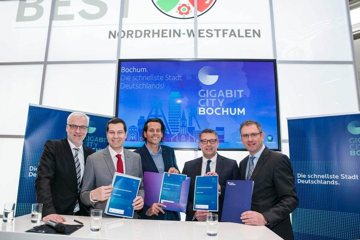 Unitymedia und Stadt Bochum bauen erste Gigabit-City Deutschlands / Partnerschaft macht Gigabit-Geschwindigkeiten großflächig in deutscher Großstadt verfügbar