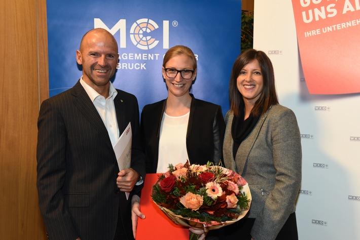 MCI Absolventin Julia Wäger mit Wissenschaftspreis 2016 ausgezeichnet