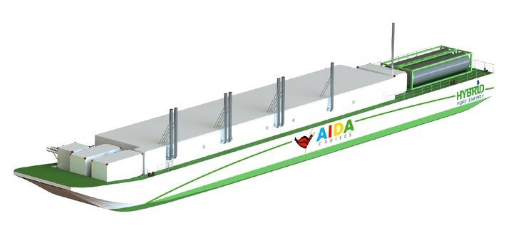 AIDA begrüßt Senatsbeschluss zur alternativen Energieversorgung von Kreuzfahrtschiffen im Hafen Hamburg