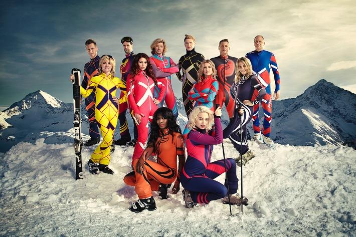 """Englische Promis messen sich für Channel 4 im Riesenslalom -  The Jump mit Eddie """"the Eagle"""" gastiert im Kühtai"""