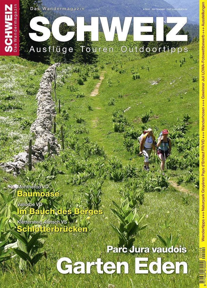"""""""Wandermagazin SCHWEIZ"""" im September, 9_2010: Der wahre Garten Eden - Parc Jura vaudois"""