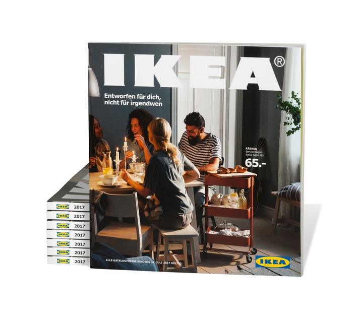 Entworfen für dich, nicht für irgendwen / Der IKEA Katalog 2017 feiert die Individualität und inspiriert, unerwartete Wege zu gehen