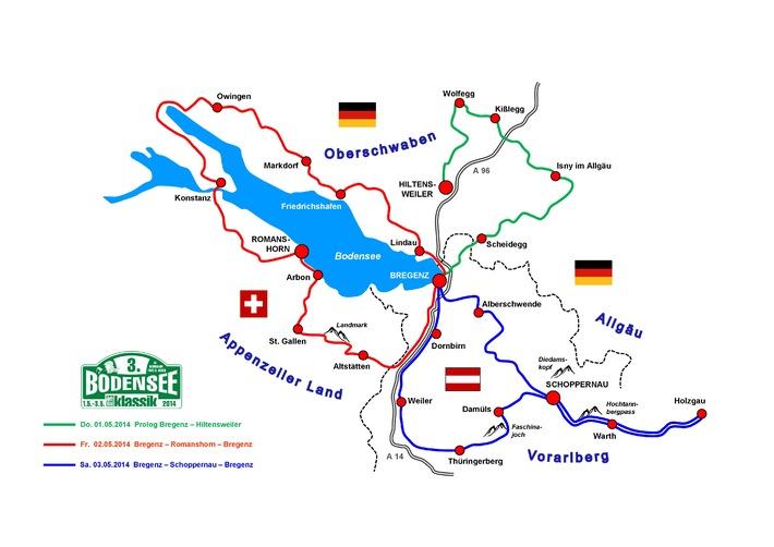 3. Bodensee-Klassik mit rundem Programm / Erstmals komplette Bodensee-Umrundung / Start über die Bregenzer Seebühne