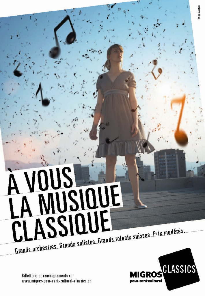 Grandi orchestre. Grandi solisti. Grandi talenti svizzeri. Prezzi moderati.  I concerti Club diventano Migros-Percento-culturale-Classics