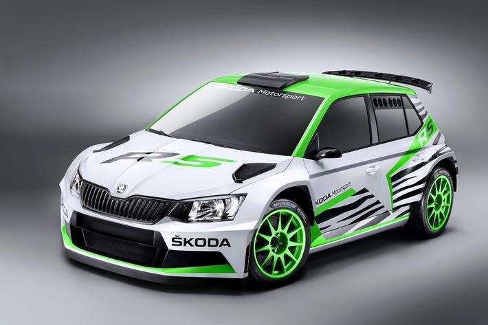 Weltpremiere auf der Essen Motor Show: SKODA zeigt Fabia R 5 Concept Car