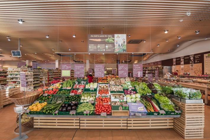 Alnatura eröffnet den 100. Super Natur Markt / Filialstandort Berlin Friedrichstra�e / Erste Alnatura Filiale in Dresden ab Mai