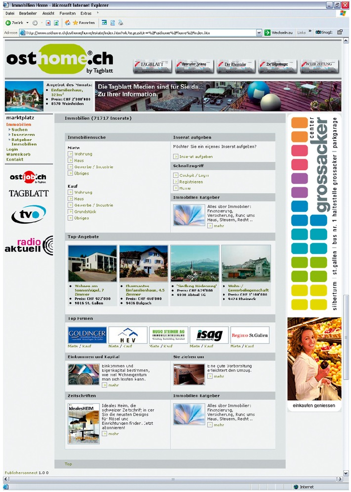 Erste Online-Marktplatz Lösung von Publiconnect ist online