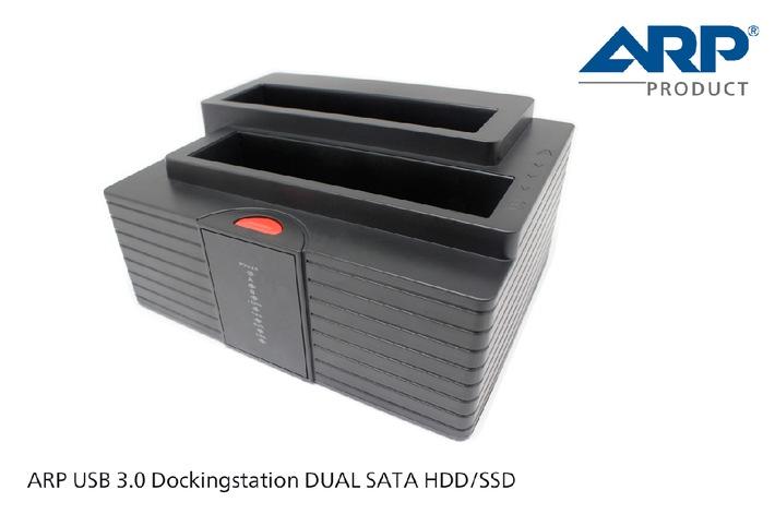 Blitzschnelle Backups mit der neuen USB 3.0 Dockingstation DUAL SATA von ARP (BILD)