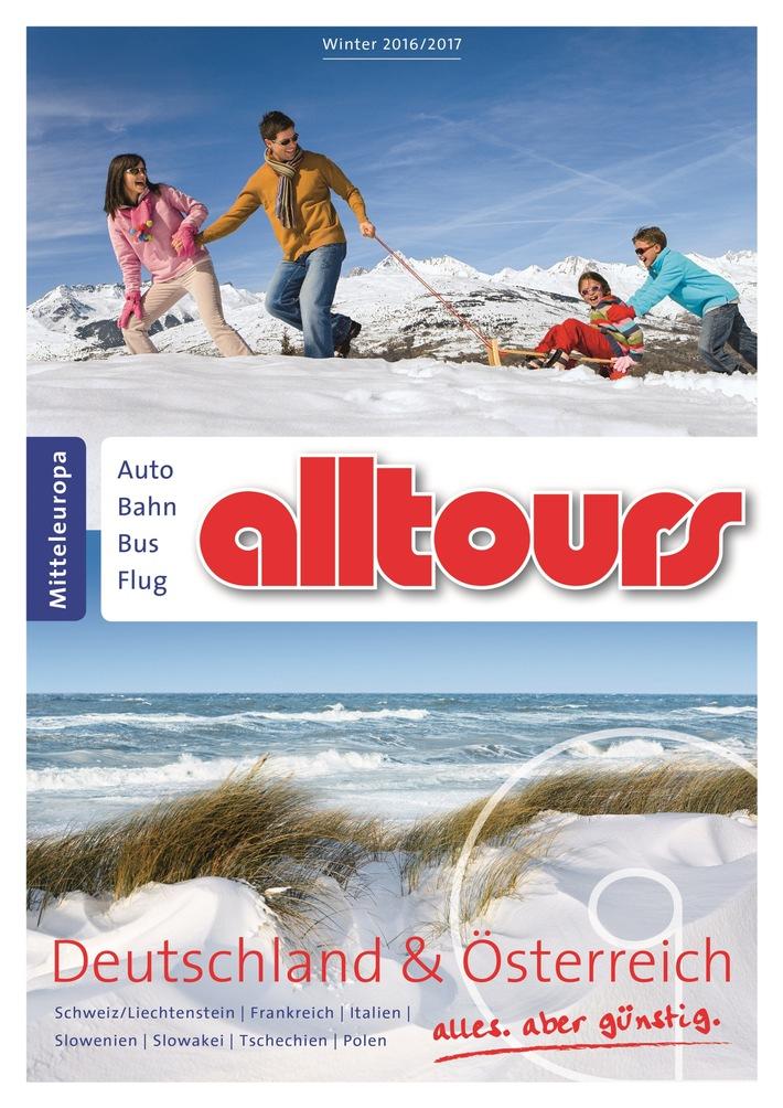 alltours baut Programm für Wintersportler, Familien, Sparfüchse und Wellnessurlauber weiter aus / Mehr zielgruppenspezifische Angebote für Gäste mit Individualanreise