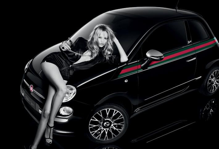 Fiat e Gucci svelano la campagna pubblicitaria della 500 by Gucci con Natasha Poly