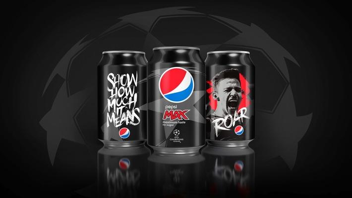 PEPSI MAX® feiert mit Fans die Leidenschaft des Fußballs / Pepsi MAX belohnt im zweiten Jahr des UEFA Champions League Sponsorings weltweit Fans, die für den Moment leben