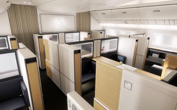 SWISS Flotte bekommt Neuzugang / SWISS präsentiert Kabinenausstattung und Streckennetz ihres neuen Flaggschiffs Boeing 777-300ER