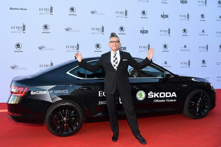 Glamour im Hamburger Hafen - SKODA brachte die Stars zum ECHO JAZZ 2017