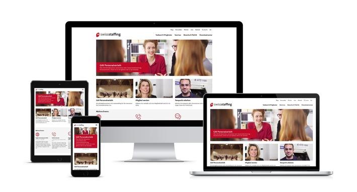Webseiten-Relaunch bei swissstaffing - Frisch im Auftritt, dynamisch in der Bedienung, besucherorientiert und geräteunabhängig nutzbar