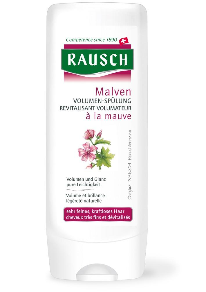 RAUSCH Malven VOLUMEN-SPÜLUNG - die Spezialpflege für feines, kraftloses Haar