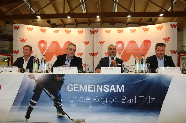 """Pilotregion : Vernetzung von globalem E-Commerce mit regionalem Einzelhandel und Hauptsponsorship im Eishockey / """"wee"""" ermöglicht EC Bad Tölz Aufstieg in DEL II"""