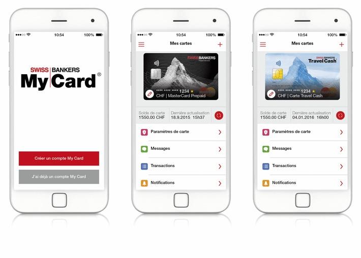 Swiss Bankers Prepaid Services: Lancement de la nouvelle app «My Card»