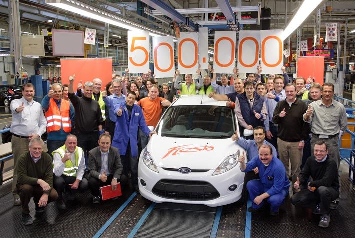 Ford feiert Bestseller: 500.000. Fiesta läuft heute im Werk Köln vom Fertigungsband (mit Bild)