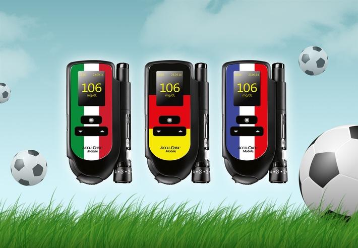 Die Blutzuckerwerte im Blick, den Fußball im Herzen: Neue Ländersticker-Edition für Accu-Chek® Mobile