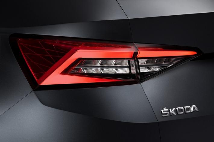 Erste Detailaufnahmen des SKODA KODIAQ: markantes Design für das neue große SUV