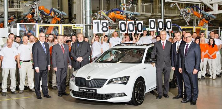 Jubiläum: SKODA produziert 18-millionstes Fahrzeug