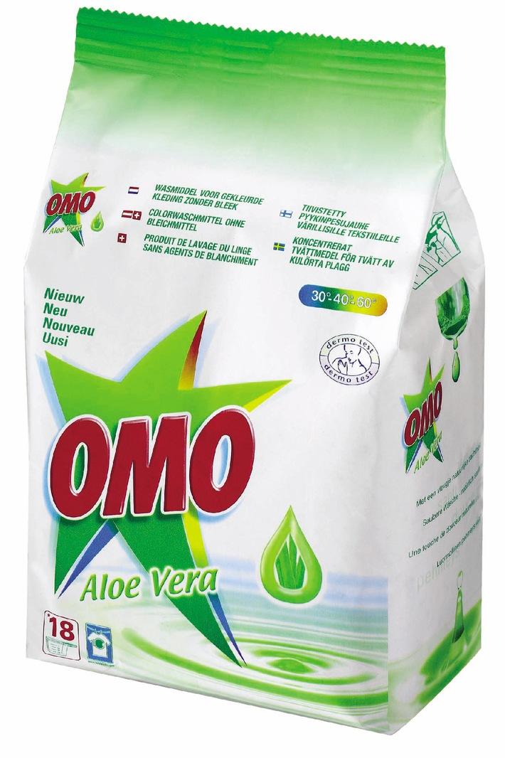 OMO Aloe Vera - Saubere Wäsche, natürlich sanft zur Haut!