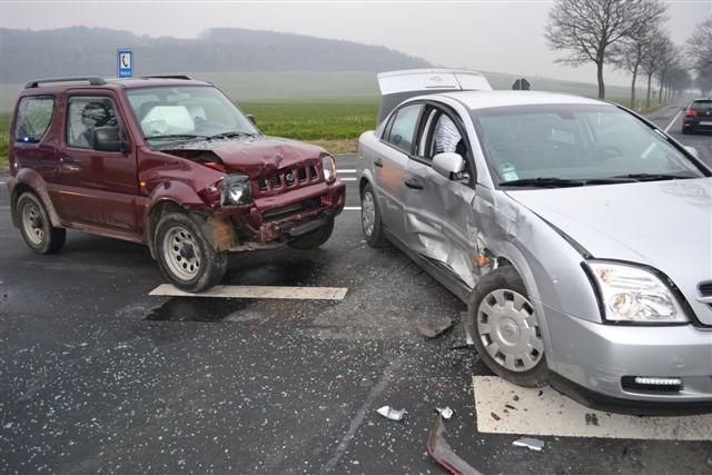 POL-HI: Glücklicher Ausgang eines Verkehrsunfalles (eis)