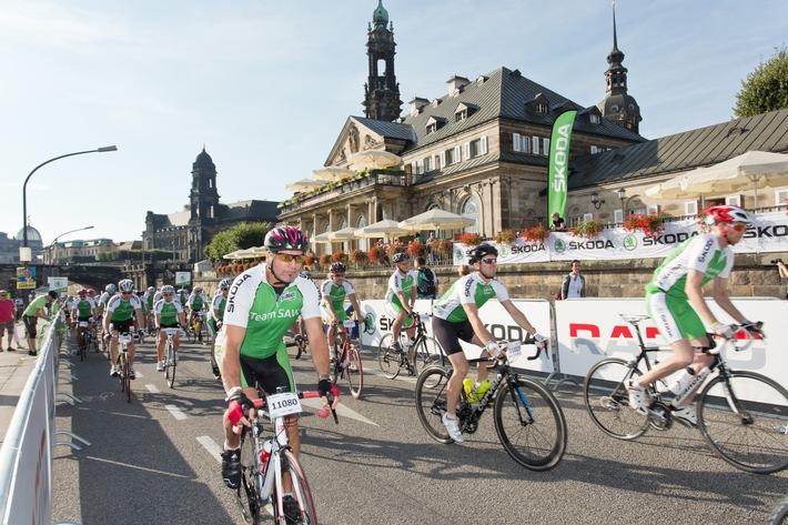 SKODA ist auch 2015 Namensgeber und Sponsor des SKODA Velorace Dresden
