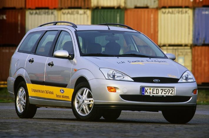Ford bietet als einziger Hersteller Erdgas-Fahrzeuge mit Euro 4-Emissionseinstufung an