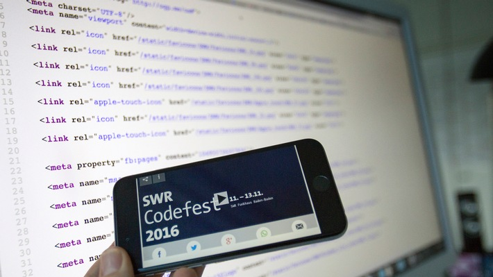 SWR veranstaltet Codefest 2016 / Im Mittelpunkt steht die Medienwelt von morgen - Anmeldefrist bis 23. Oktober