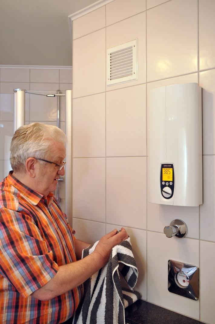 Warmwasser muss ganz einfach sein / Leicht zu bedienen in jedem Alter