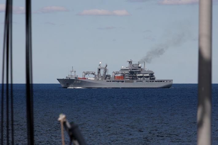 Deutsch-südafrikanisches Manöver in der Ostsee