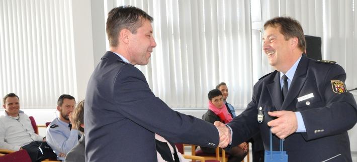 Verabschiedung der Gäste und Referenten Foto von links: EPHK Ewald Ternig, Leitender Polizeidirektor Franz-Josef Brandt