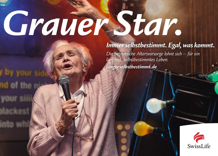 """Mit """"Grauem Star"""": Swiss Life startet Werbekampagne mit jung gebliebenen älteren Menschen für ein längeres, selbstbestimmtes Leben"""