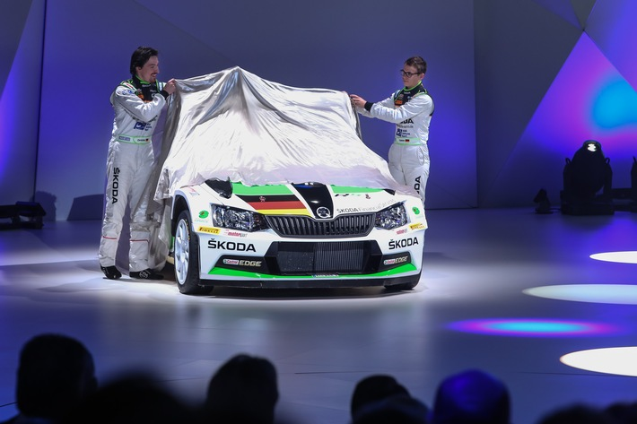 SKODA Pilot Fabian Kreim steuert neuen Fabia R5 bei der Deutschland-Premiere