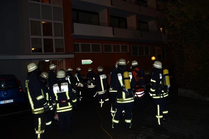 FW-CW: Austritt von Kohlenmonoxid in Hirsauer Hotel