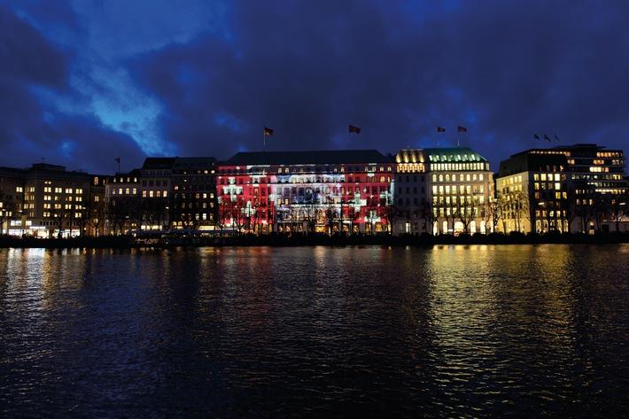 Lichtinstallation für mehr Achtsamkeit / Einzigartiger Augenblick in Hamburg