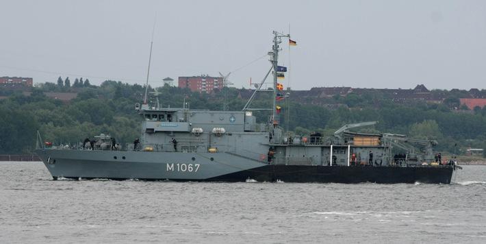 """Minentauchereinsatzboot """"Bad Rappenau"""" wieder unter NATO-Flagge"""