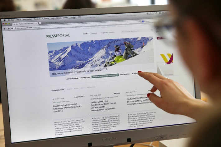 The new Presseportal goes online