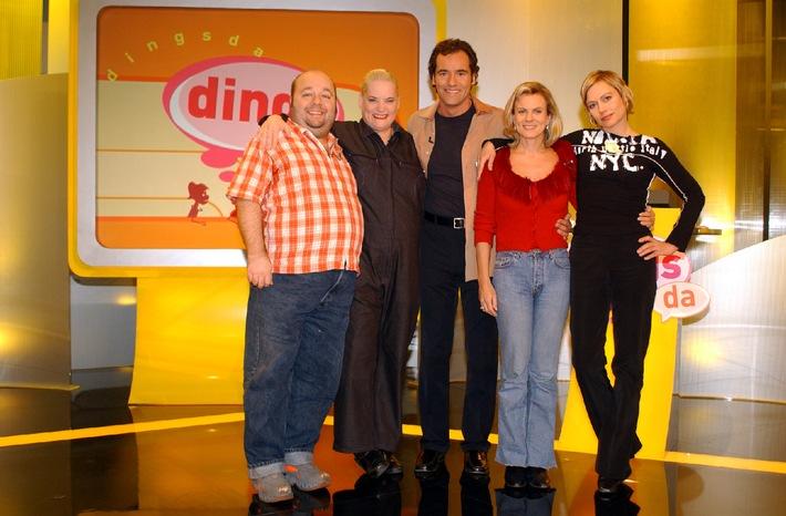 """""""Dingsda"""" - Die Gameshow mit dem """"Uups"""" ist wieder da! / Ab 6. Juni 2002 präsentiert Thomas Ohrner 12 neue Folgen bei Kabel 1!"""
