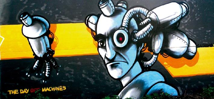 Graffiti- & Malwettbewerb in Zug / Kreativ und legal Bauabschrankungen der Überbauung «ZugSchleife» in Zug mit gestalten
