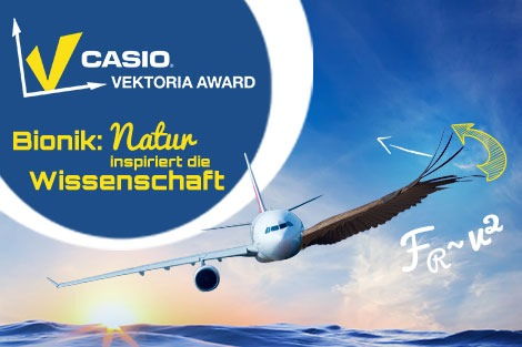 """Bundesweiter Schülerwettbewerb Casio Vektoria Award zum Thema """"Bionik - Natur inspiriert die Wissenschaft"""""""