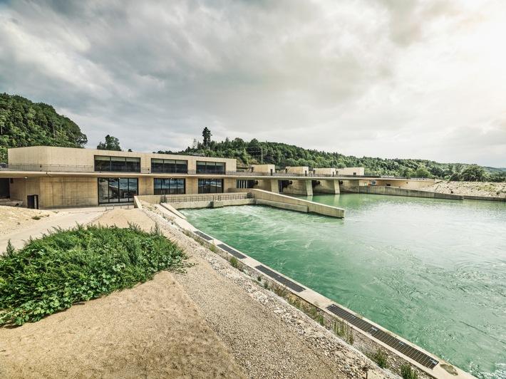 Wasserkraftwerk Hagneck / Modernstes Flusskraftwerk der Schweiz geht in Betrieb