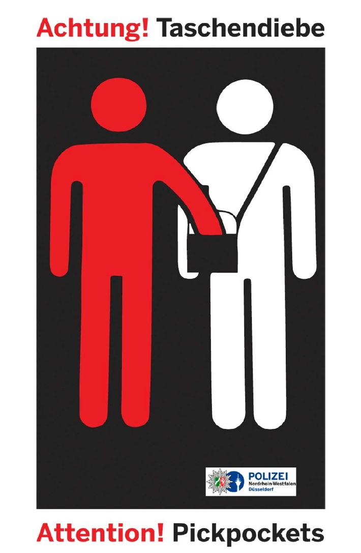 POL-D: Achtung! Taschendiebe - Stadtmitte - Festnahme auf frischer Tat - Haftrichter