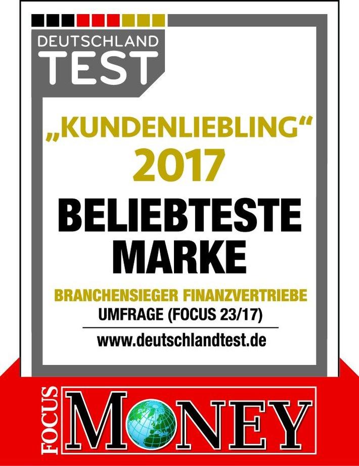 Kundenliebling 2017: Deutsche Vermögensberatung erneut beliebteste Marke