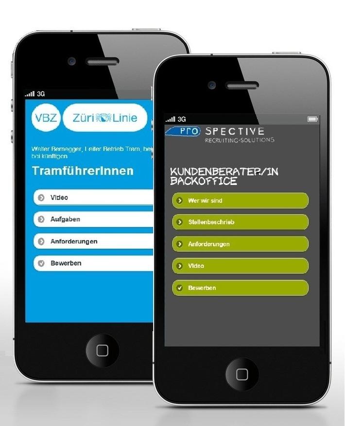 Wie Mobile und die Rekrutierung zusammenfinden / Prospective entwickelt ein mobile-optimiertes Stelleninserat