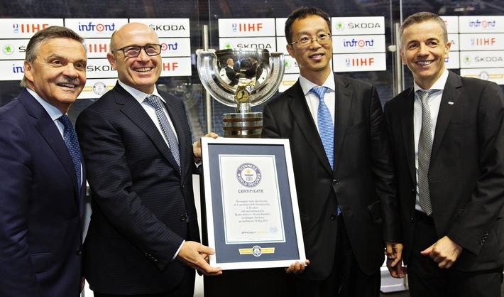 SKODA ist für weitere vier Jahre offizieller Hauptsponsor der IIHF Eishockey-Weltmeisterschaft